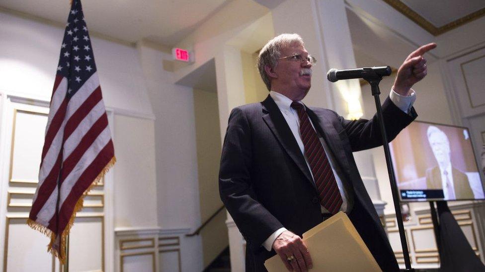 مستشار الأمن القومي الأمريكي، جون بولتون