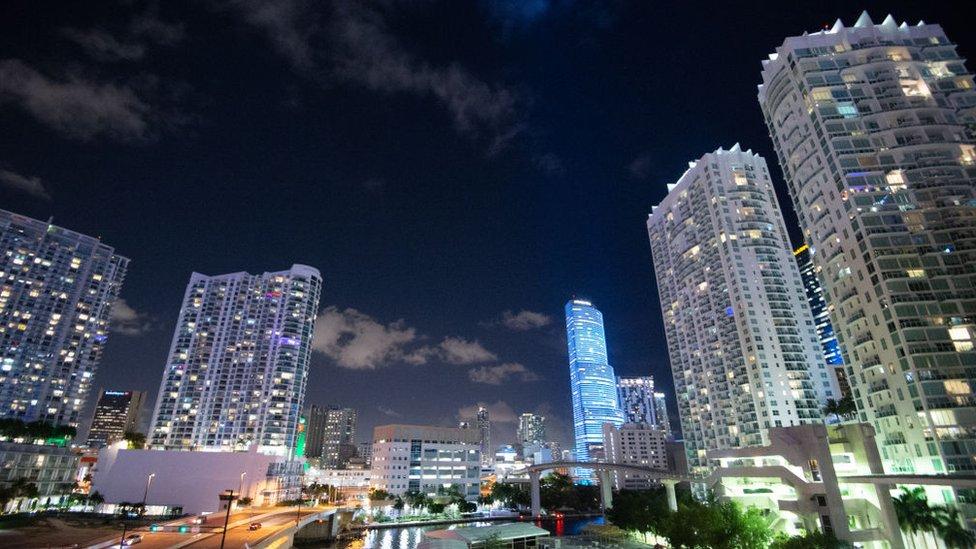 Torres de apartamentos en Miami.