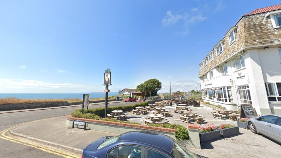 The Commodore pub overlooking the sea in Southbourne