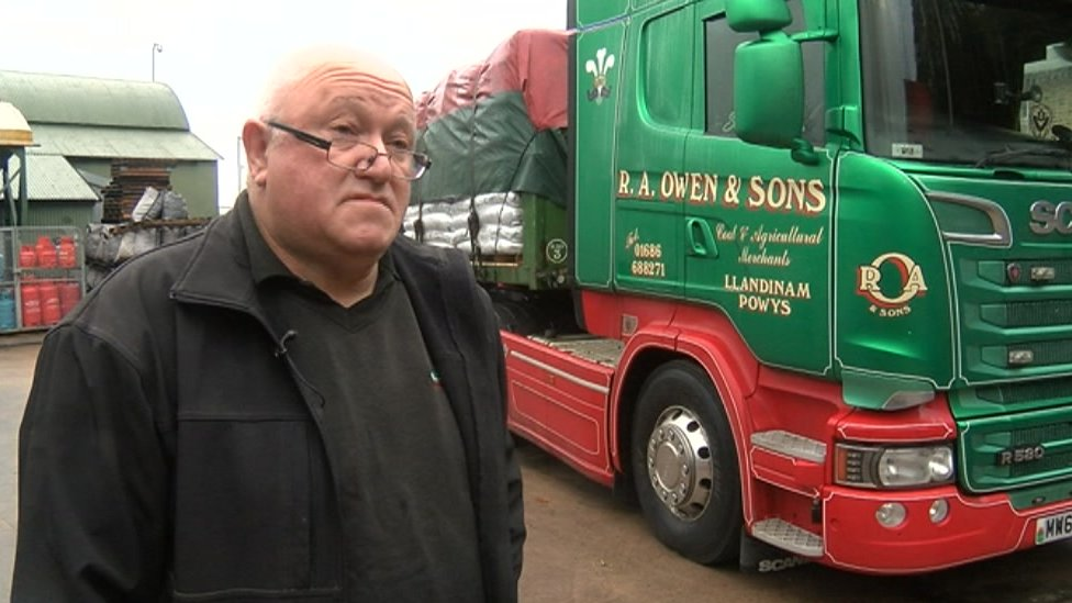 Colin Owen with one of his HGVs