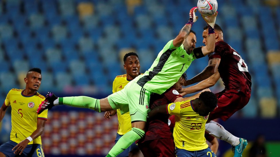 Partido Colombia-Venezuela en la Copa América 2021