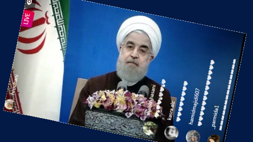 Rouhani on Instagram Live
