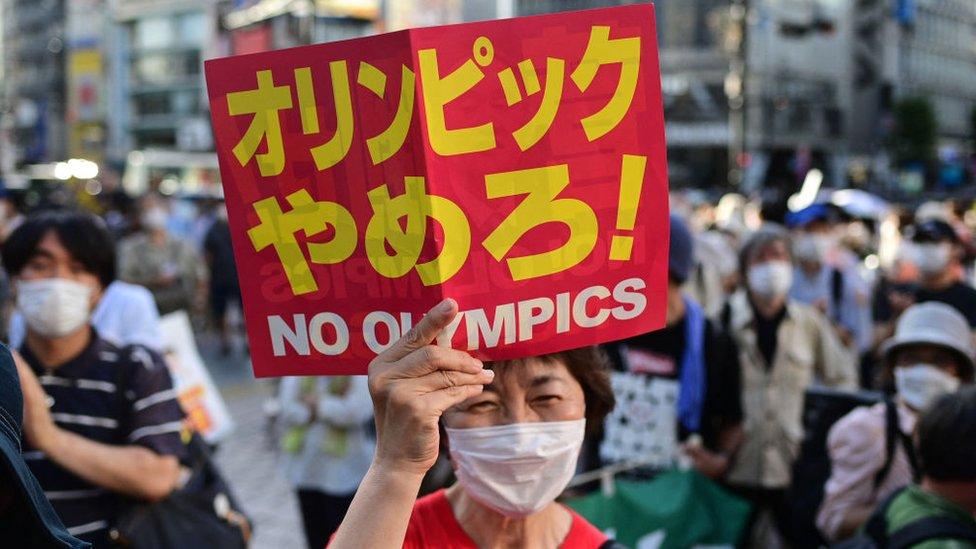 Protestas en Tokio