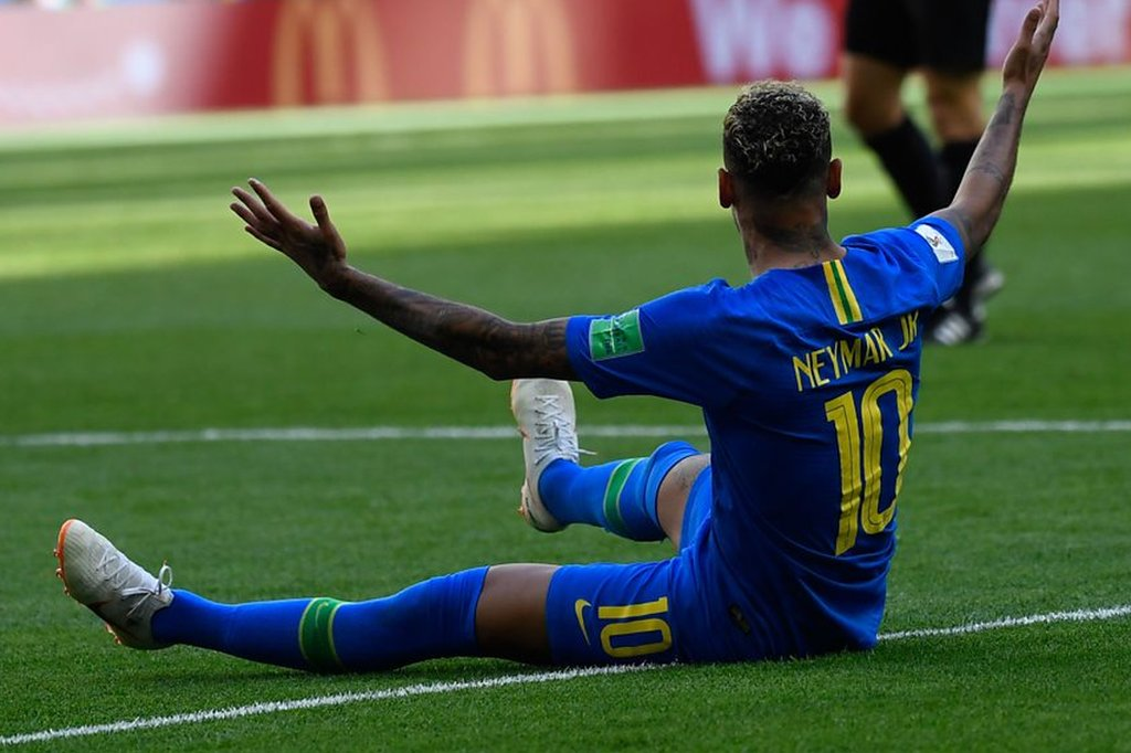 World Cup 2018: Brazil's Neymar denied VAR penalty against Costa Rica