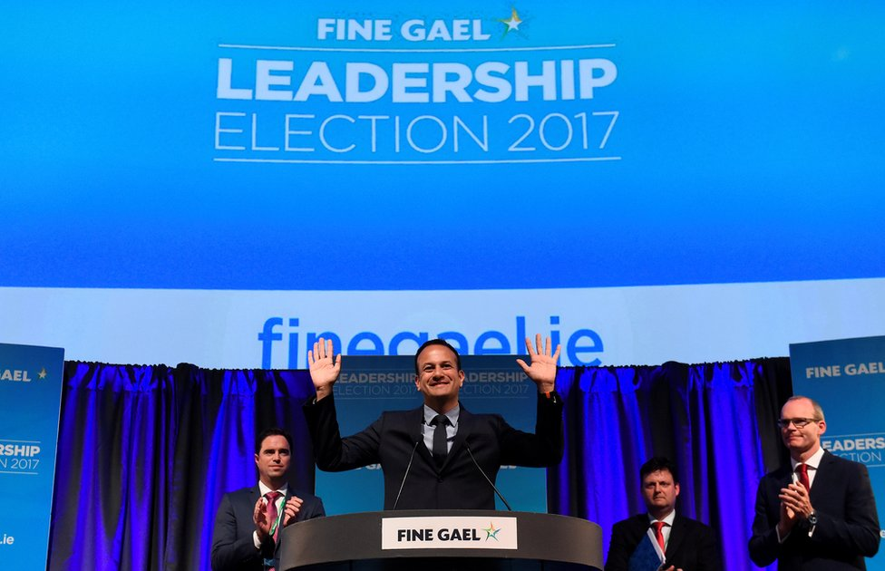 The Fine Gael leadership result was announced in Dublin's Mansion House