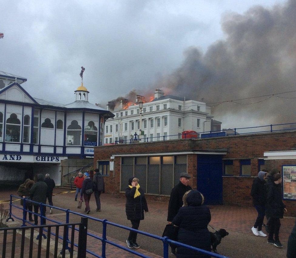 Claremont Hotel fire