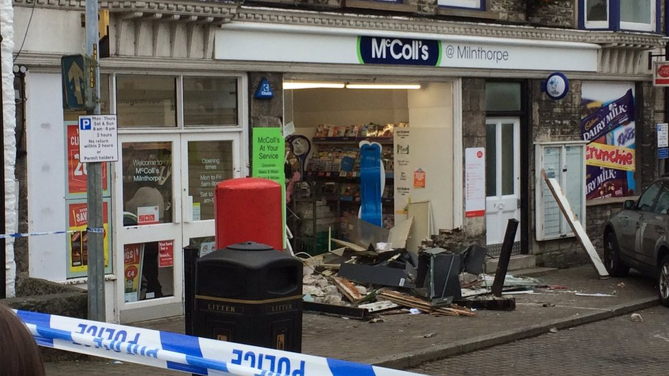 Milnthorpe smash-and-grab cash machine raiders jailed