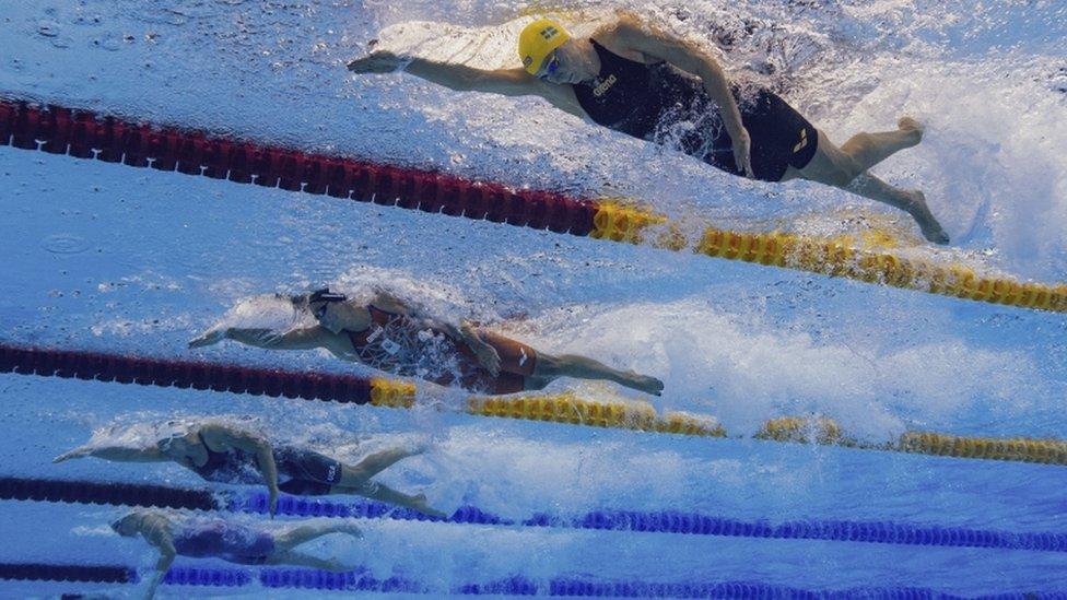Nadadores en Tokyo 2020.