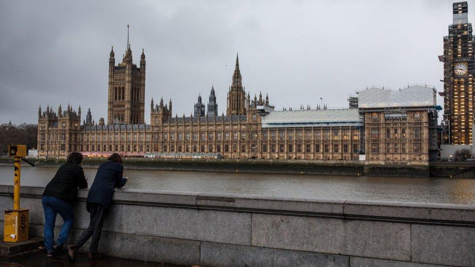 Vista del parlamento británico.