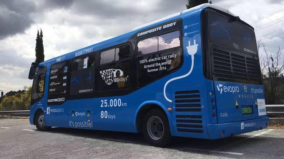 A bus powered by Lithium Werks batteries