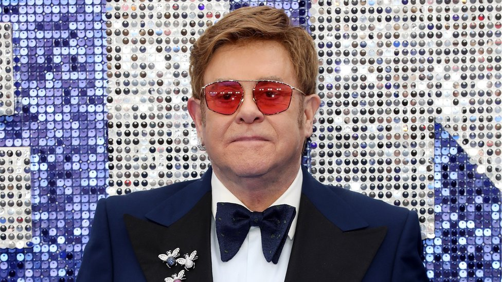 Executive producer Sir Elton John attends the Rocketman UK premiere at Odeon Luxe Leicester Square in London