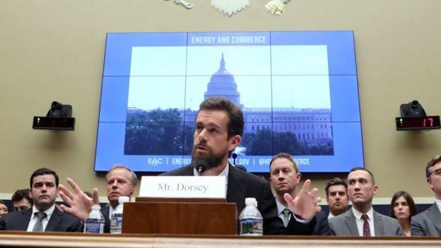 Джек Дорсі на слуханнях в сенаті