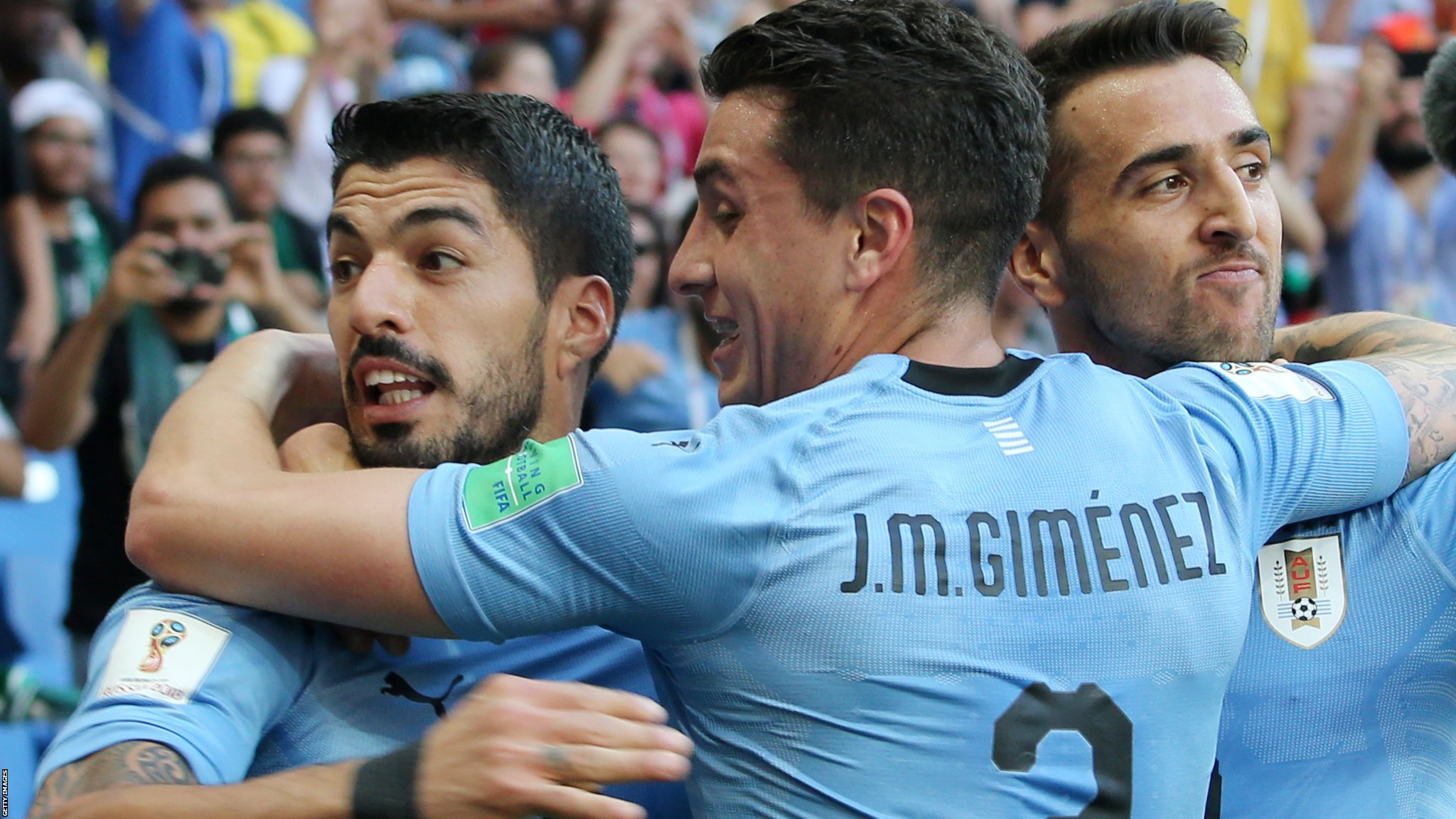 Uruguay beat Saudi Arabia to send themselves & Russia into last 16 - highlights & report