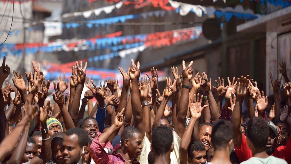 Seif Sharif Hamad's supporters in Zanzibar - 26 October 2015