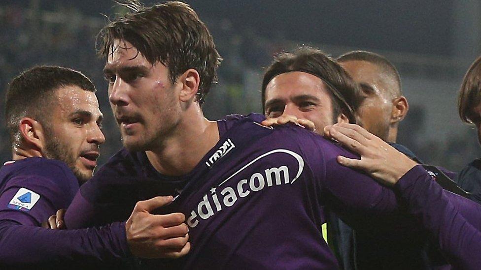 Vlahović na utakmici protiv Intera u decembru prošle godine