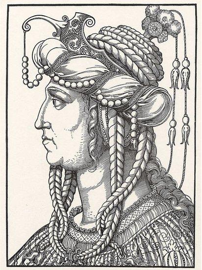 Dibujo de Roxelana. Erhard Schoen.