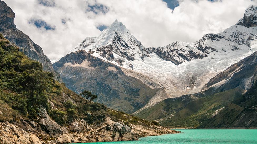 Glaciares en la Cordillera Blanca en Perú.