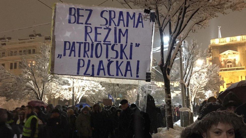 protest Stop krvavim košuljama u Beogradu