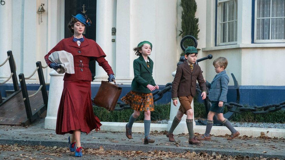 Still from Mary Poppins Returns