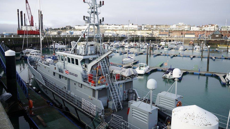 Cross-Channel migrants had two small children in boat
