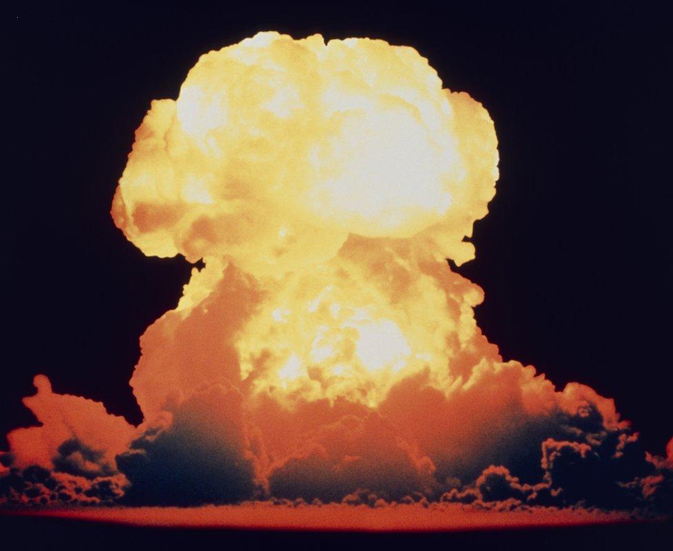 Hydrogen bomb test, 1954
