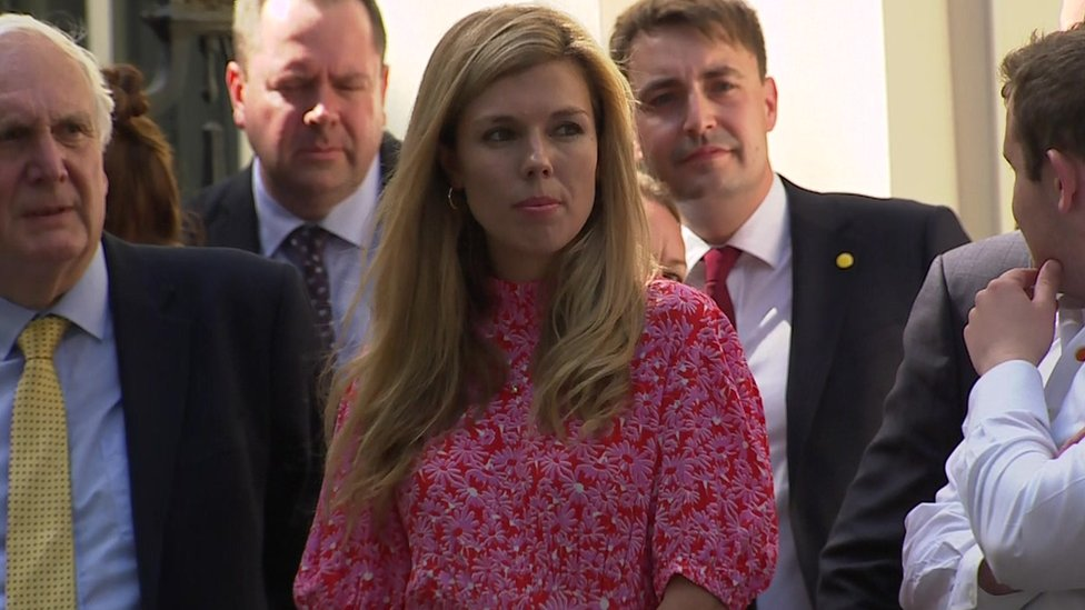 Boris Johnson's partner Carrie Symonds and other members of his team