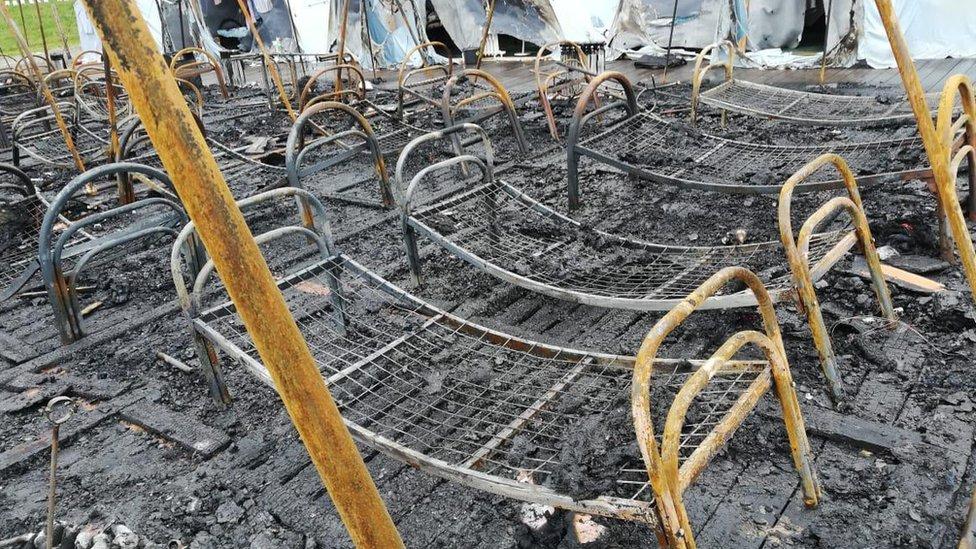 Пожар в палаточном лагере в Хабаровском крае: трое детей погибли