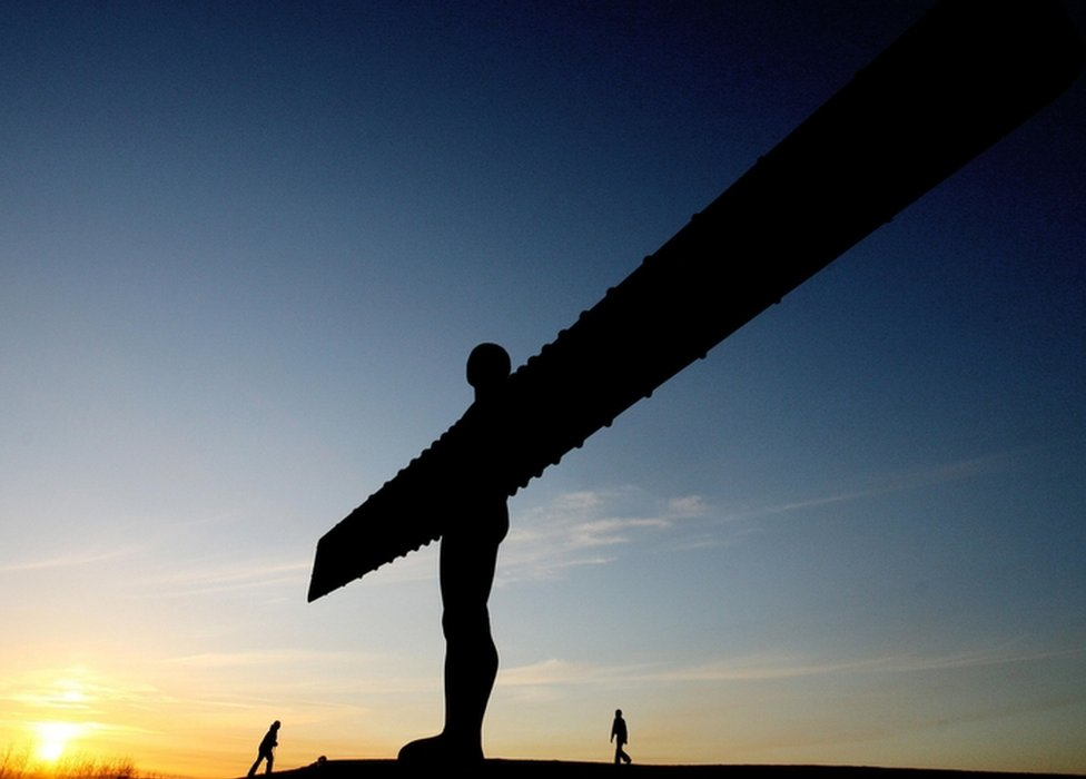 Angel of the North sculpture in Gateshead