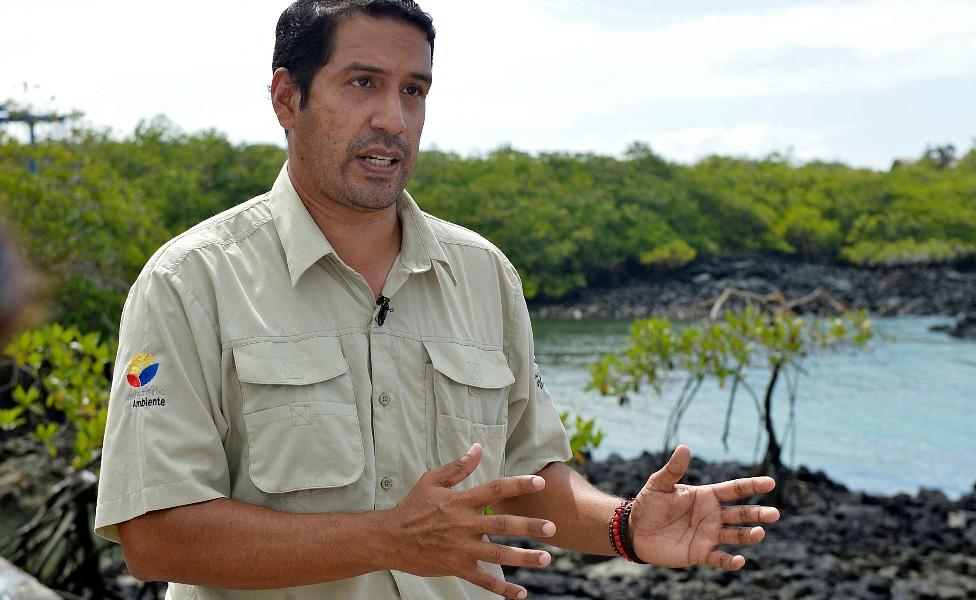 Danny Rueda, director del Parque Nacional Galápagos