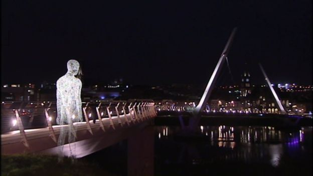 Part of the lumiere festival during Derry's 2013 UK City of Culture celebrations