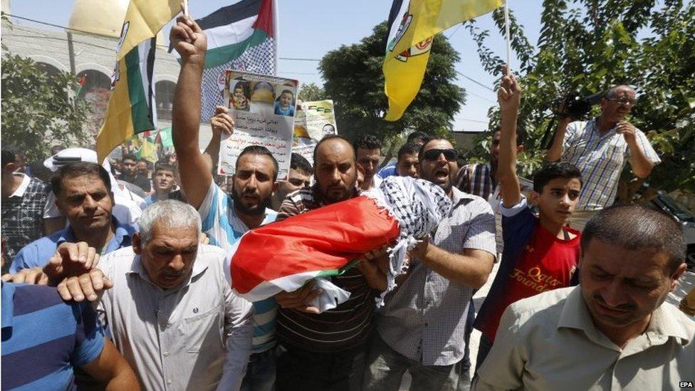 Funeral of Ali Saad Dawabsha in Duma (31/07/15)