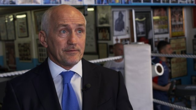 Barry McGuigan at St Joseph's boxing club in Newport