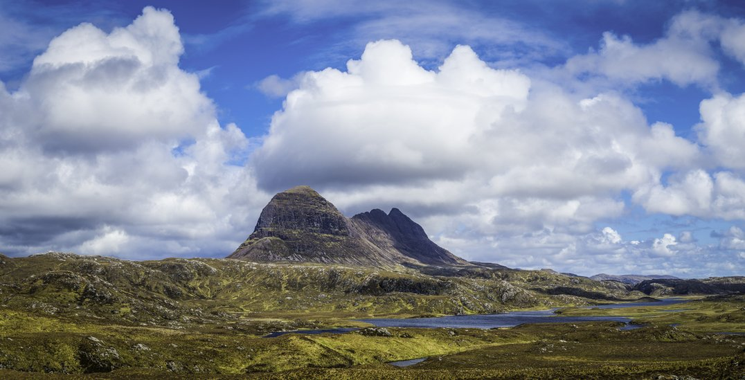 Pyramid peaks of Suilven