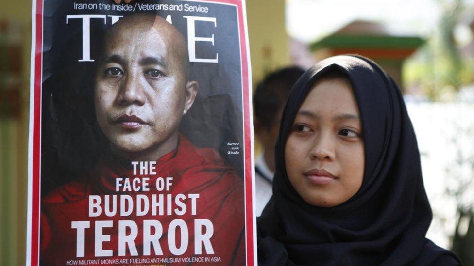 La portada de la revista Time con el rostro de Wirathu