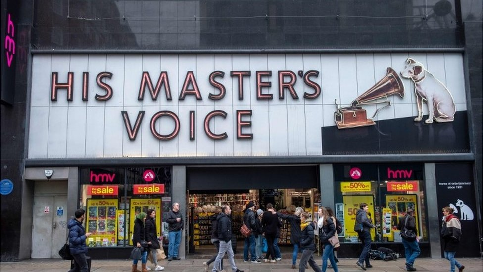 HMV store with famous gramaphone and dog