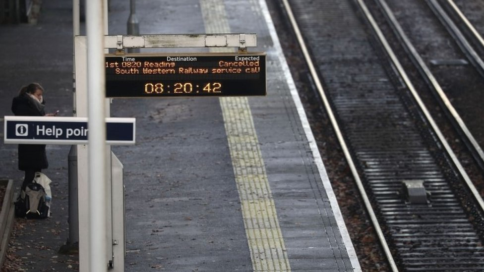 Bracknell station on 2 December