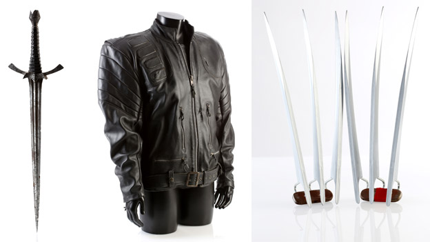 The Witch King's Dagger from Lord of the Rings: The Fellowship of the Ring; The Terminator's (Arnold Schwarzenegger) SFX Crane Chase Jacket from Terminator 3: Rise of the Machines; Wolverine's (Hugh Jackman) Claw Set from X2: X-Men United
