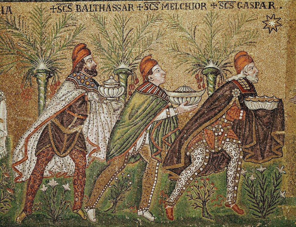 The Three Kings in the Basilica of Sant'Apollinare Nuovo Ravenna