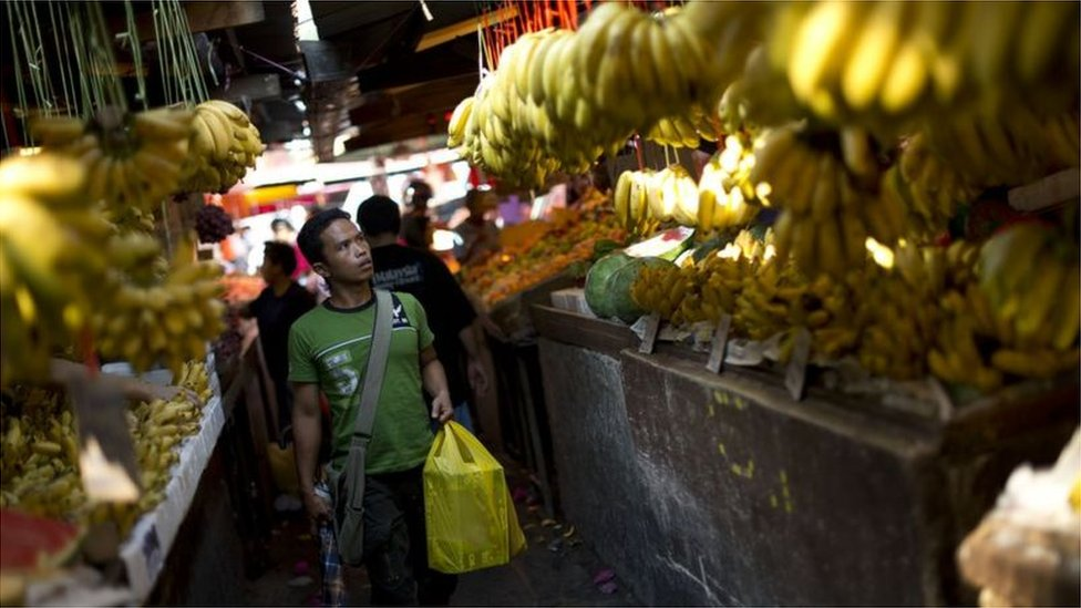 Fruit and veg market in Malaysia