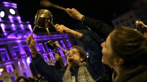 西班牙婦女罷工