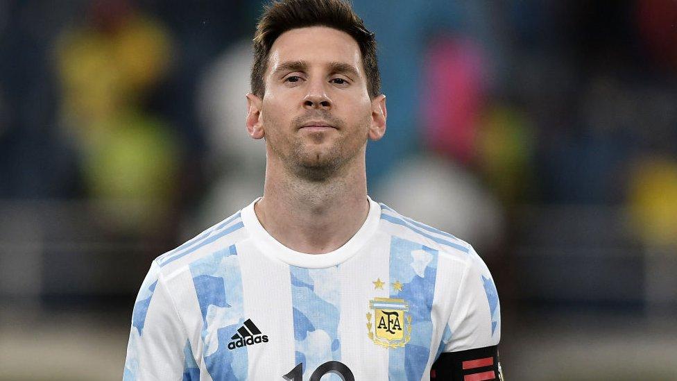 Lionel Messi, futbolista de la selección argentina.