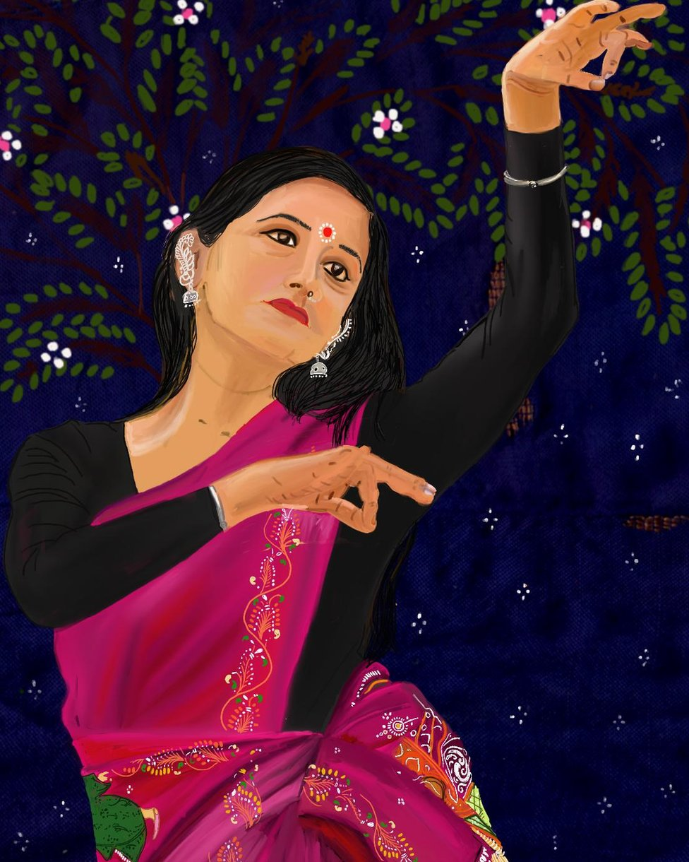 The painting of a dancer