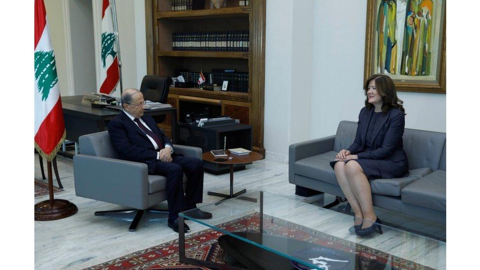 سفيرة الولاية المتحدة في بيروت، دوروتي شيا