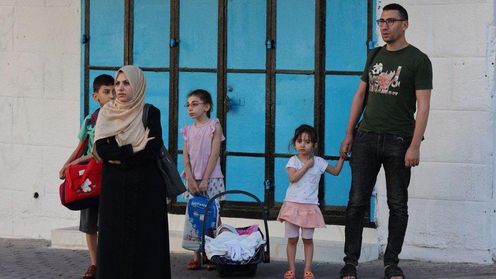 Arabes israelíes desplazados el 13 de mayo de 2021