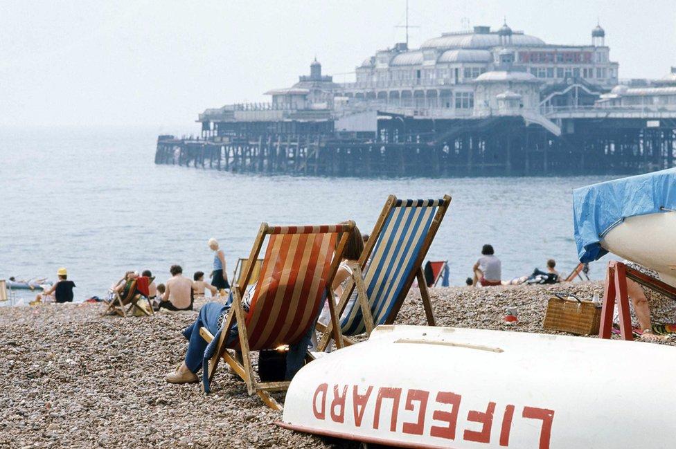 Brighton beach 1970s