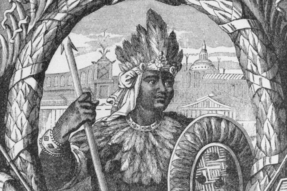 Ilustración de Moctezuma II