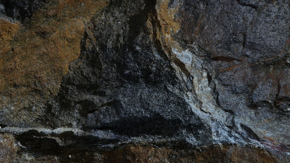 A section of Zinnwaldite in Germany