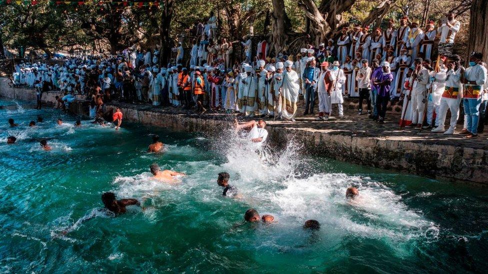 حتفالات عيد الغطاس الإثيوبي