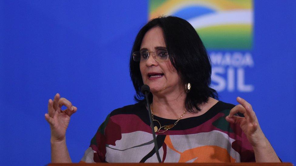 Damares Alves, ministra brasileña de la Mujer, la Familia y los Derechos Humanos.