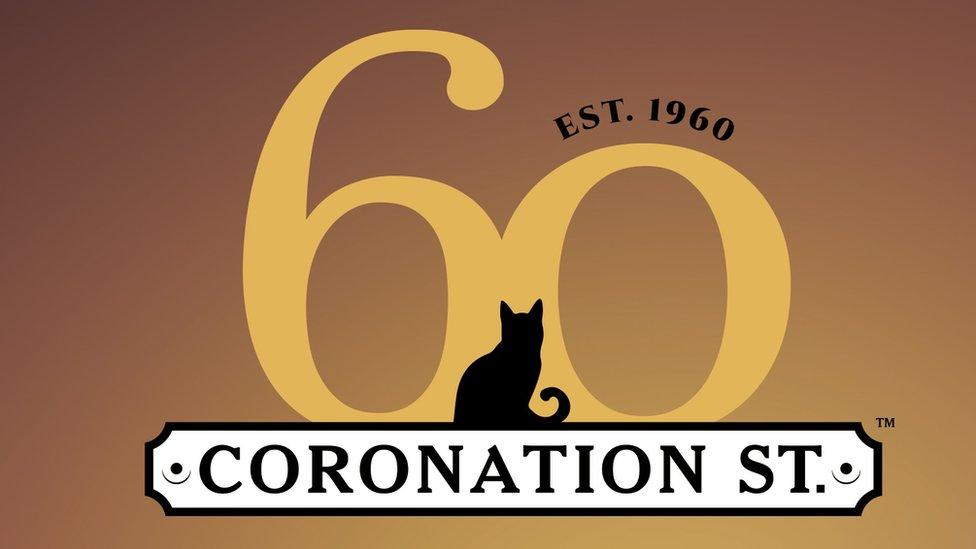 Promotional image marking Coronation Street's 60th anniversary